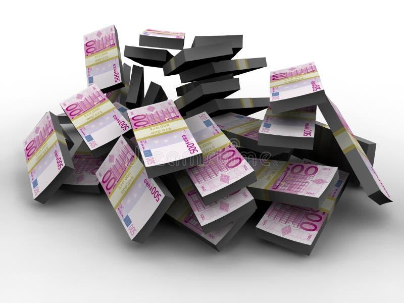 Millón de euros ilustración del vector