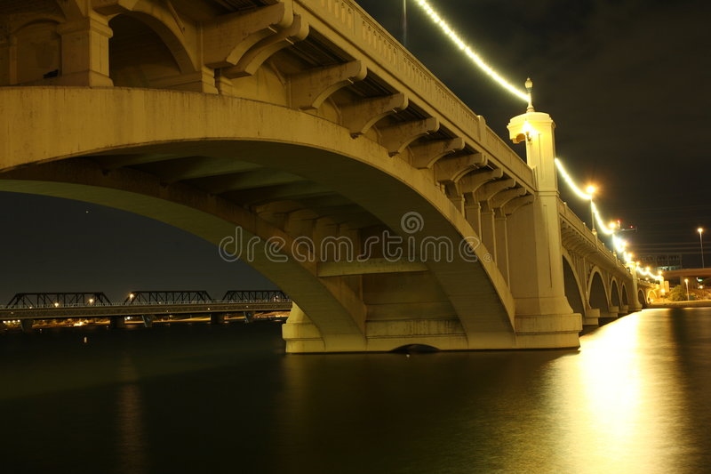 Mill Avenue Bridges royalty free stock image