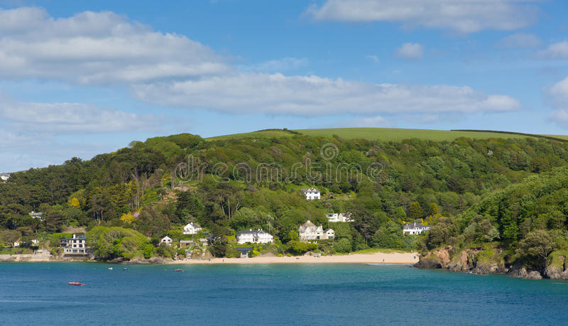 Mill Bay beach Salcombe Devon uk one of several beautiful beaches. In the estuary royalty free stock photography