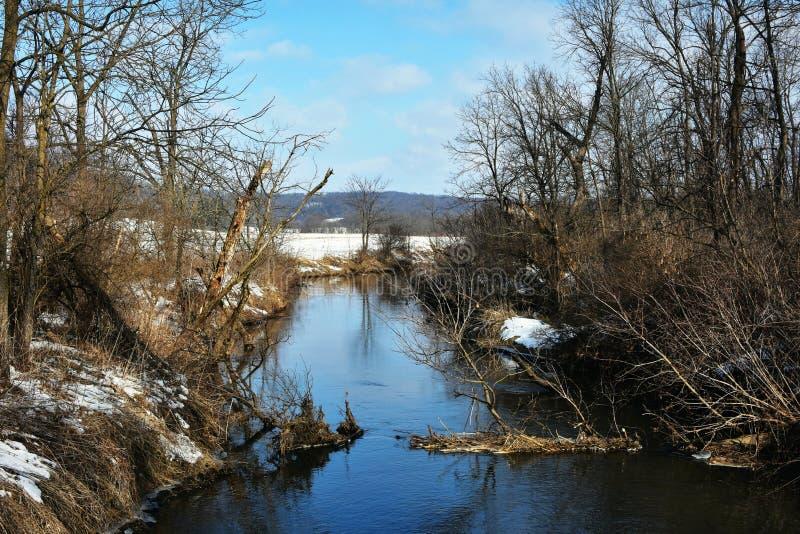 Mill Creek i Ridgeway, Wisconsin fotografering för bildbyråer