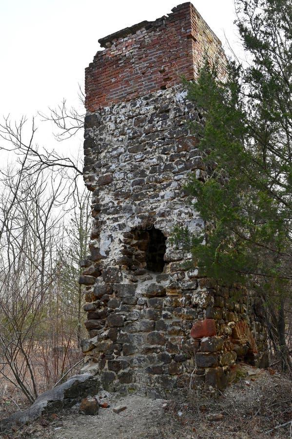 Mill Furnace Chimney arkivfoton