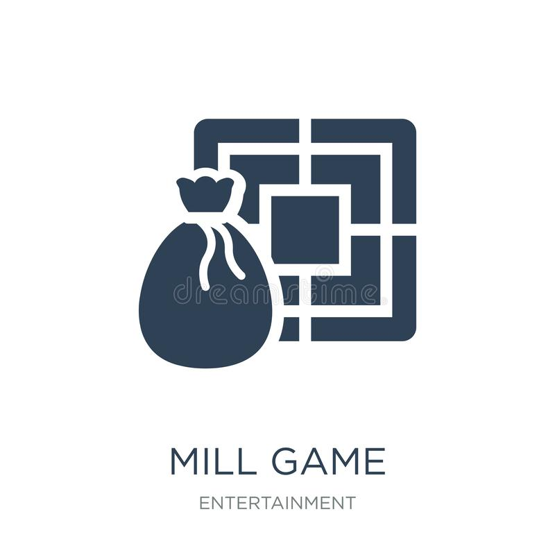 Mill game icon in trendy design style. mill game icon isolated on white background. mill game vector icon simple and modern flat. Symbol for web site, mobile vector illustration
