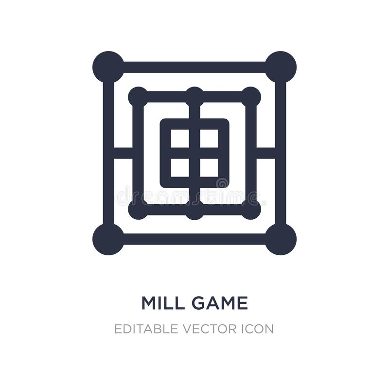 Mill game icon on white background. Simple element illustration from Entertainment concept. Mill game icon symbol design vector illustration