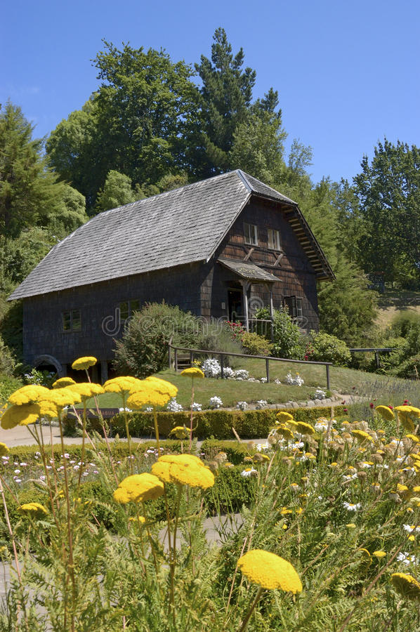 Mill House. Recreation of a mill house built by Germans in late 1880, during the German colonization in Chile royalty free stock photo