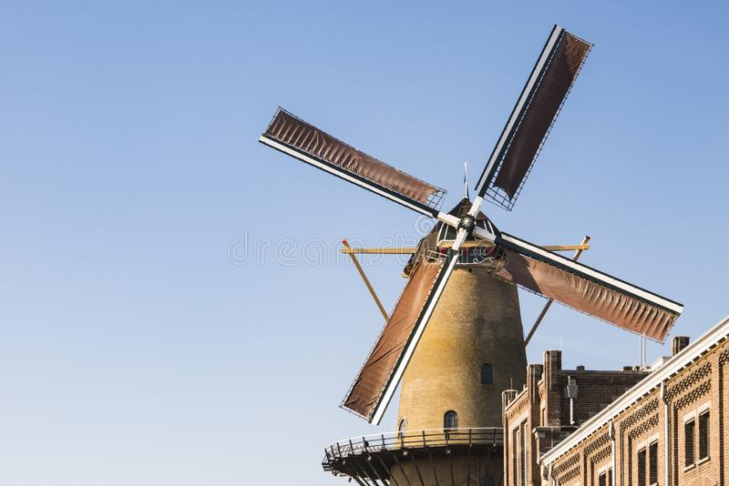 Mill Kyck over den Dyk in Dordrecht, The Netherlands stock photography