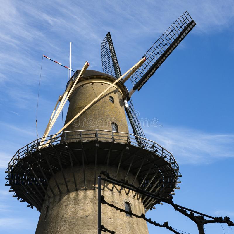 Mill Kyck over den Dyk in Dordrecht, The Netherlands royalty free stock photos
