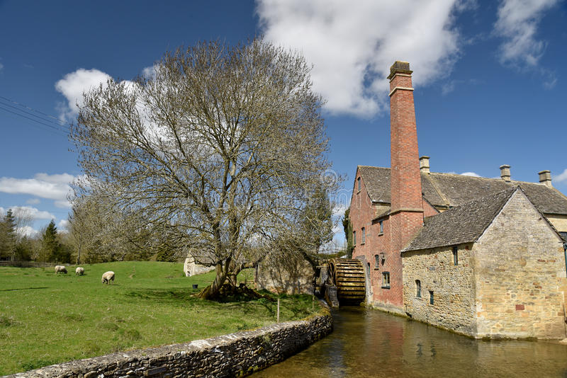 Mill at Lower Slaughter. Gloucestershire stock image