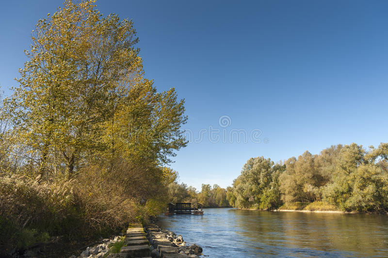 Mill on the Mura river.  stock photography