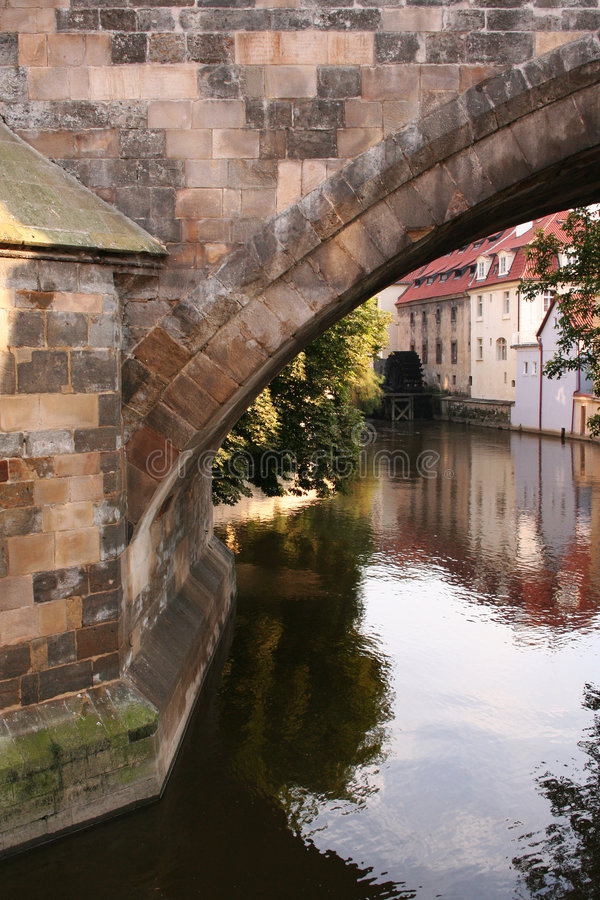 Mill near the Charles Bridge stock photos
