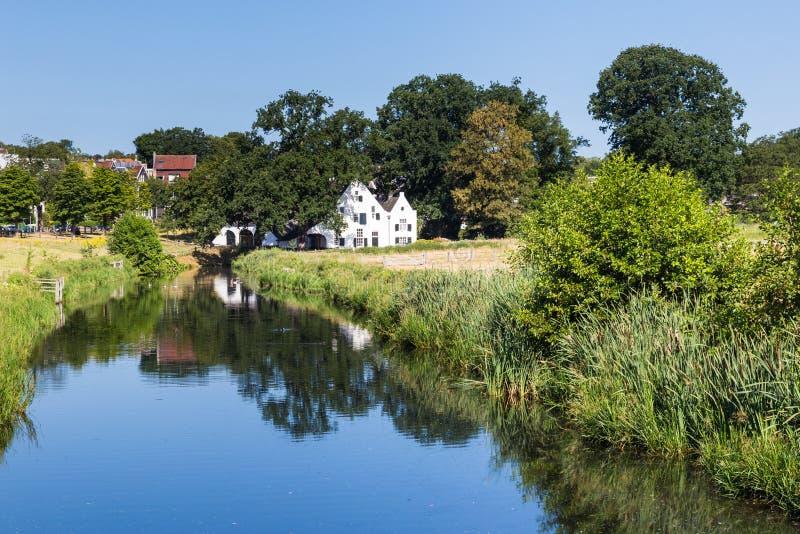 Mill site in Arnhem in the Netherlands. Mill site in Park Sonsbeek in teh center of Arnhem, Netherlands stock photo