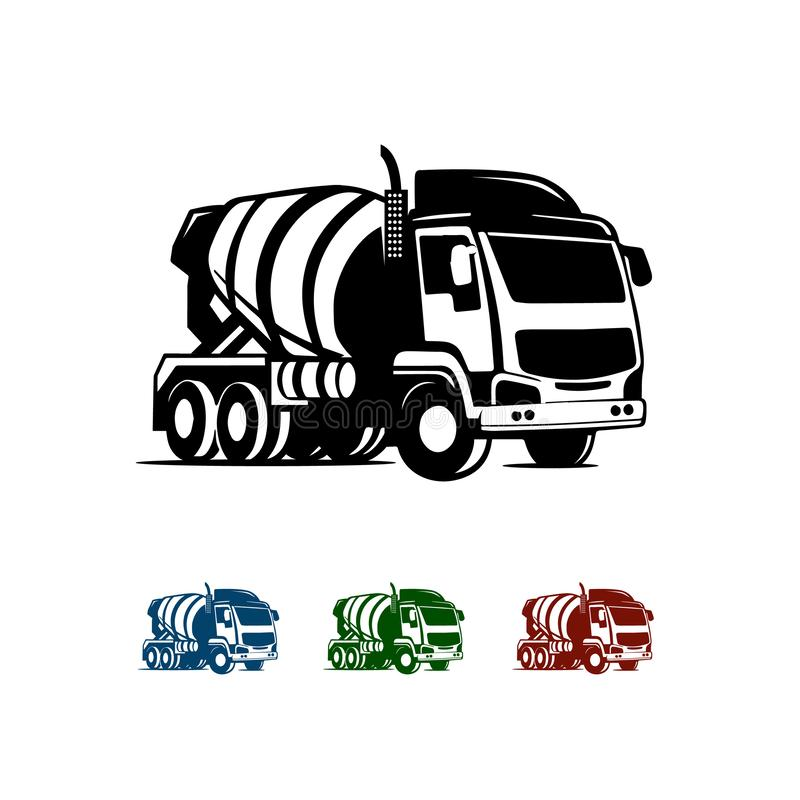 mill truck silhouette vector illustration for transportation Logo company royalty free illustration