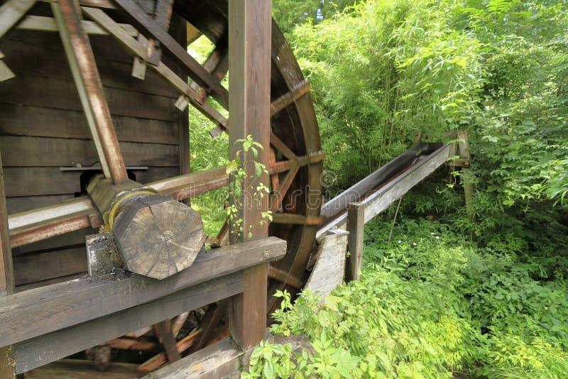 Mill wheel. In Tono, Iwate, Japan royalty free stock photos