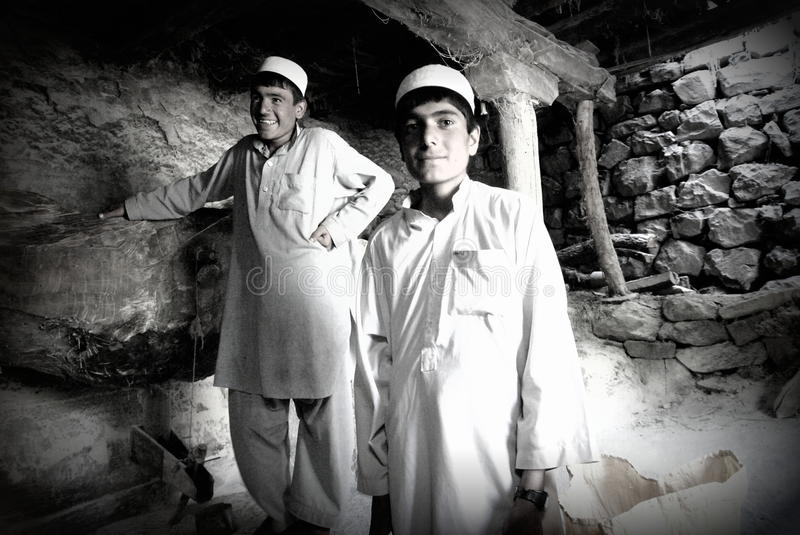 Mill workers in Afghanistan stock photography