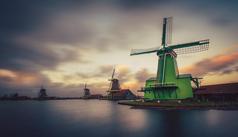 Mill Zaanse schans Zaandam Netherlands stock photography