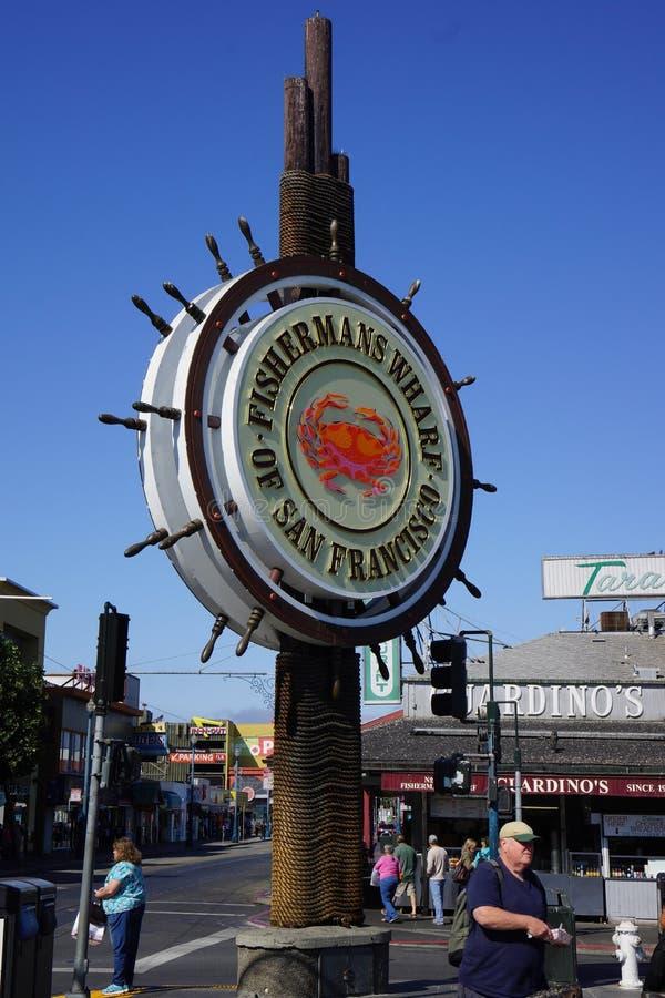 Milla turística del muelle de Fishermens en San Francisco imágenes de archivo libres de regalías