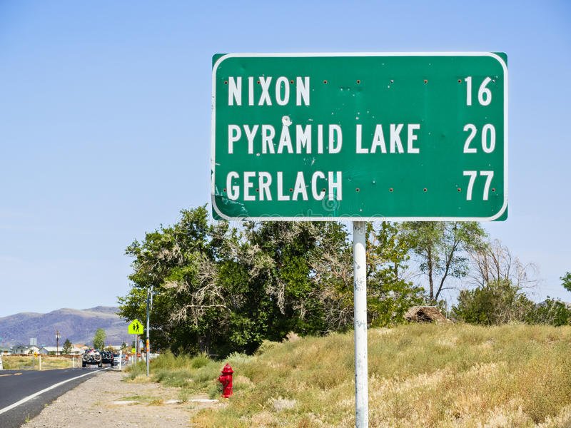 77 millas a Gerlach fotografía de archivo libre de regalías