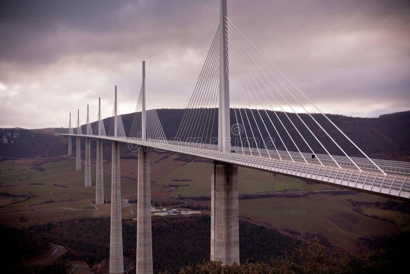 Millau桥梁,法国 库存照片