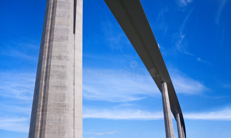 Millau高架桥,法国 免版税图库摄影