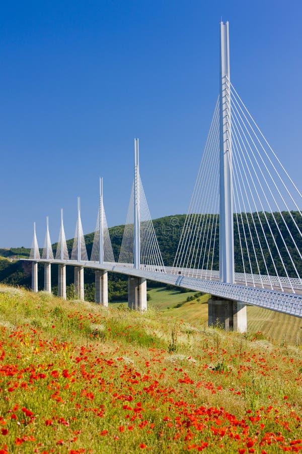 millau高架桥 免版税库存图片