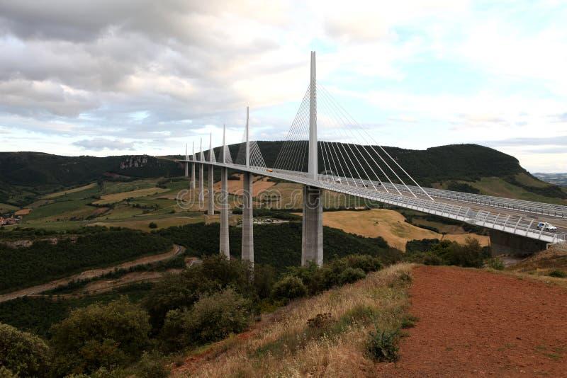 millau高架桥 免版税库存照片