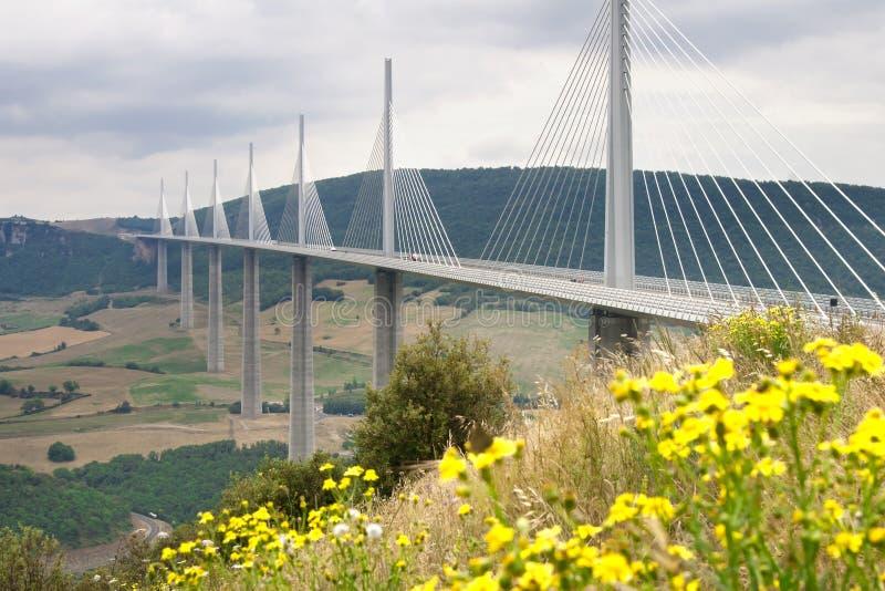 millau高架桥 免版税图库摄影