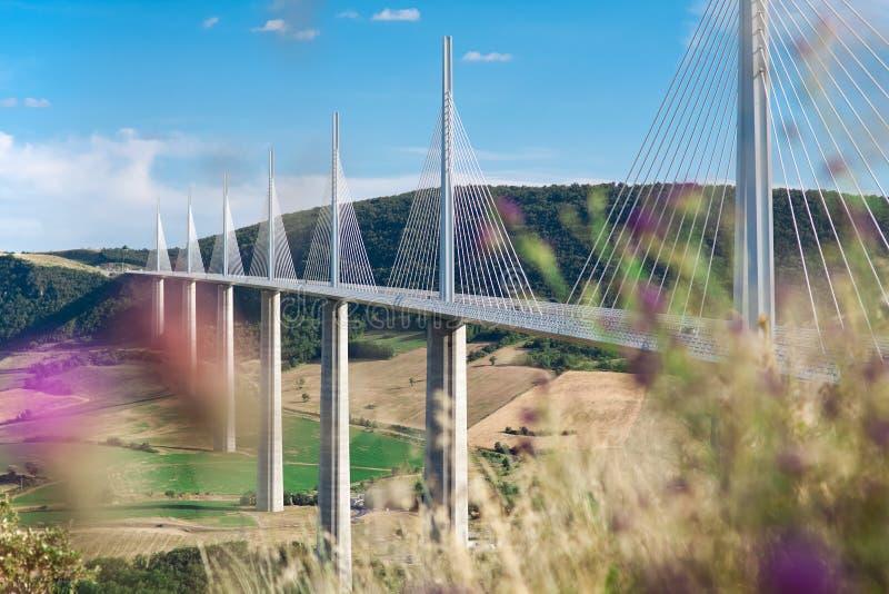Millau高架桥 库存照片