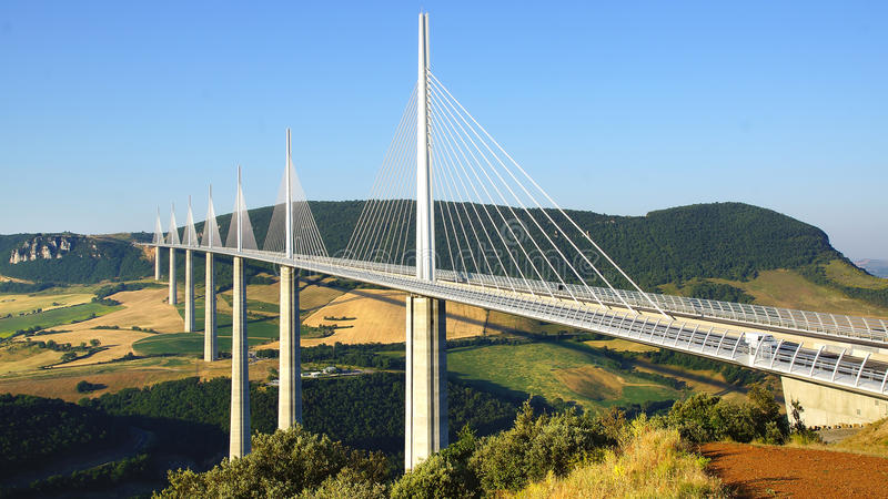 Millau Viaduct. editorial photography. Image of building ...