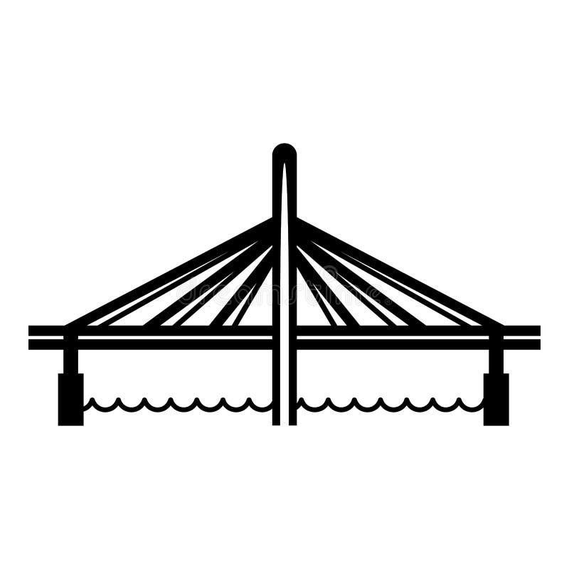Millau viaduct bridge icon, simple black style. Millau viaduct bridge icon. Simple illustration of millau viaduct bridge vector icon for web stock illustration