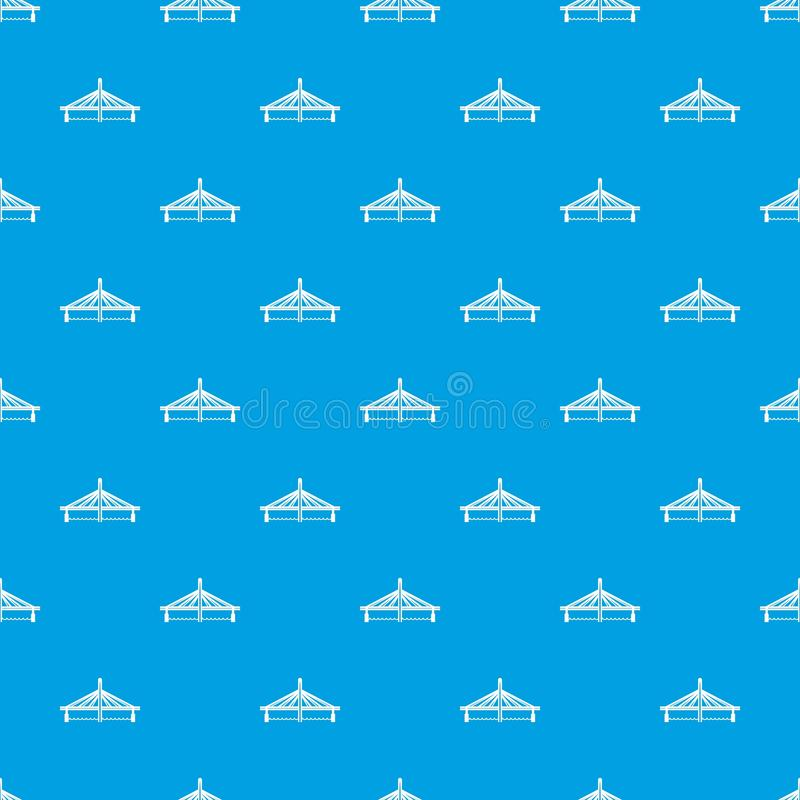 Millau viaduct bridge pattern vector seamless blue. Repeat for any use stock illustration