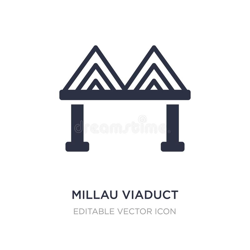 millau viaduct icon on white background. Simple element illustration from Monuments concept royalty free illustration