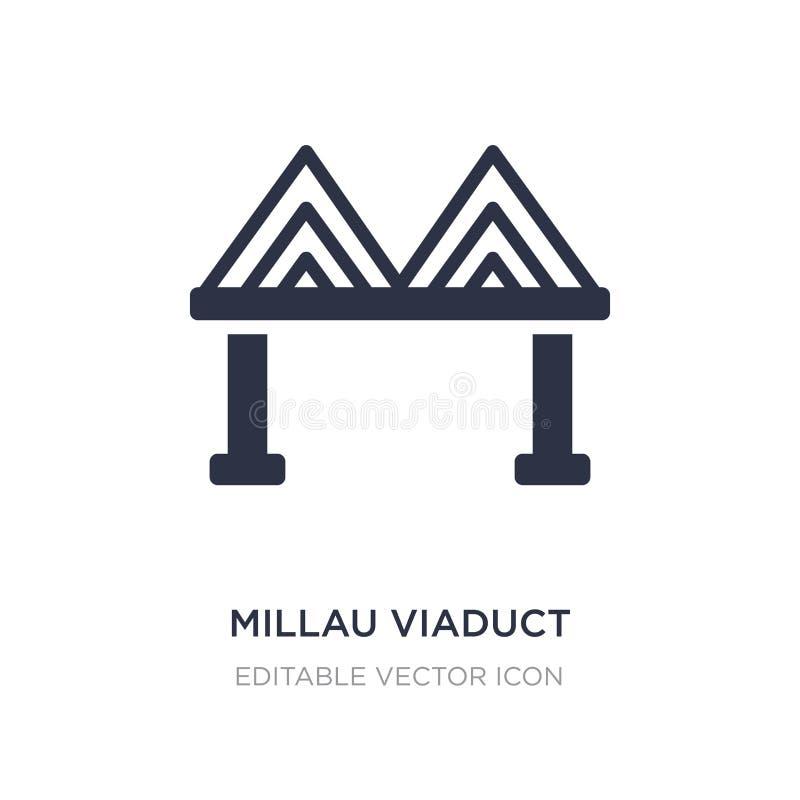 Millau-Viaduktikone auf weißem Hintergrund Einfache Elementillustration vom Monumentkonzept lizenzfreie abbildung