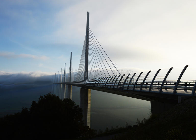 Millau wiadukt obrazy royalty free
