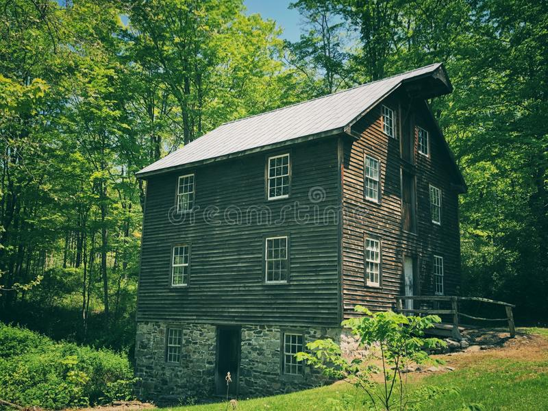 Millbrook Village houses exterior. Millbrook Village, part of the Delaware Water Gap National Recreation Area, is a re-created community of the 1800s that stock images