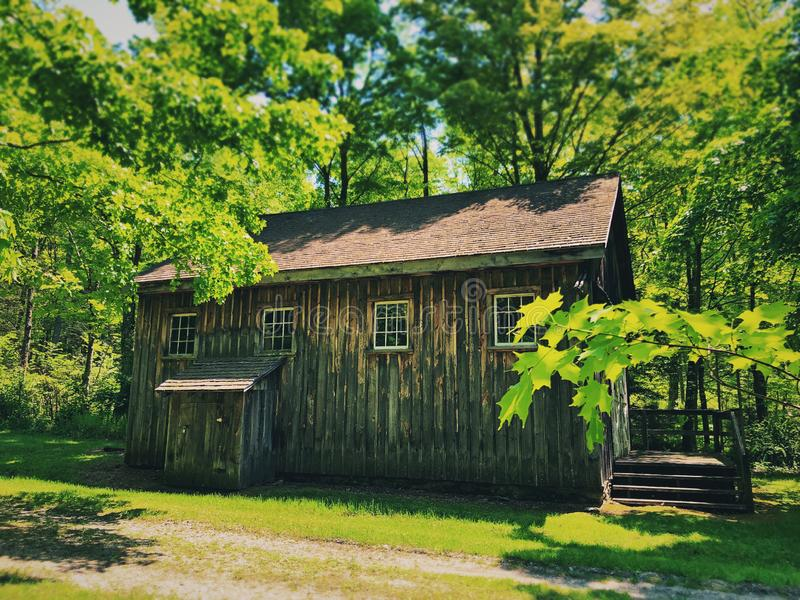 Millbrook Village houses exterior. Millbrook Village, part of the Delaware Water Gap National Recreation Area, is a re-created community of the 1800s that royalty free stock photos