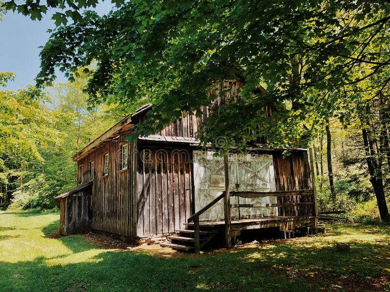 Millbrook Village houses exterior. Millbrook Village, part of the Delaware Water Gap National Recreation Area, is a re-created community of the 1800s that stock photo