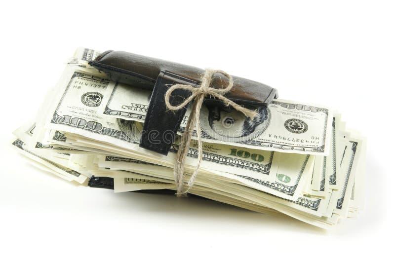 Mille dollari all'interno immagine stock libera da diritti