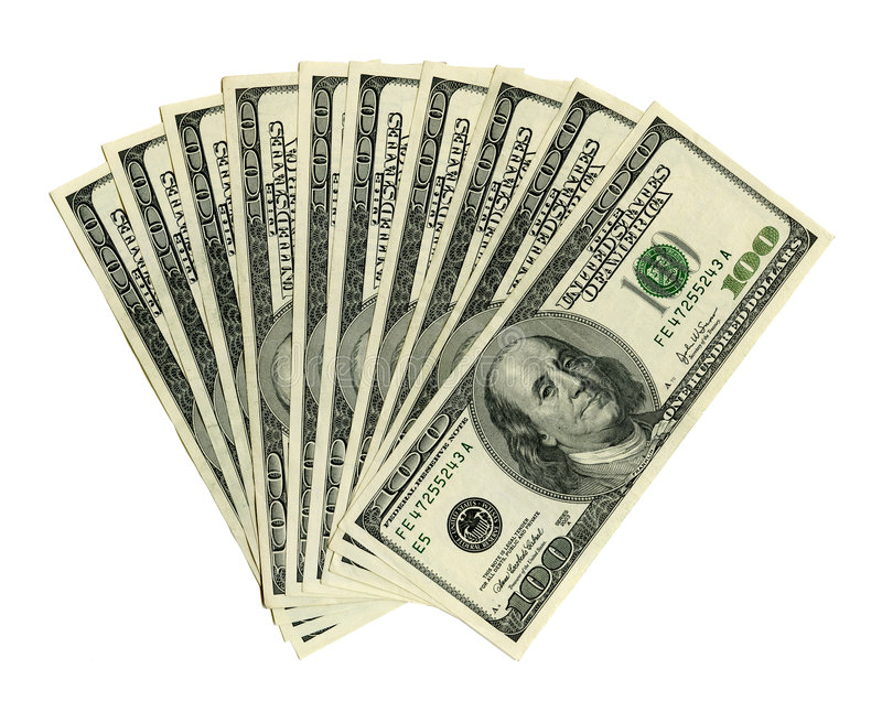 Mille dollars images stock