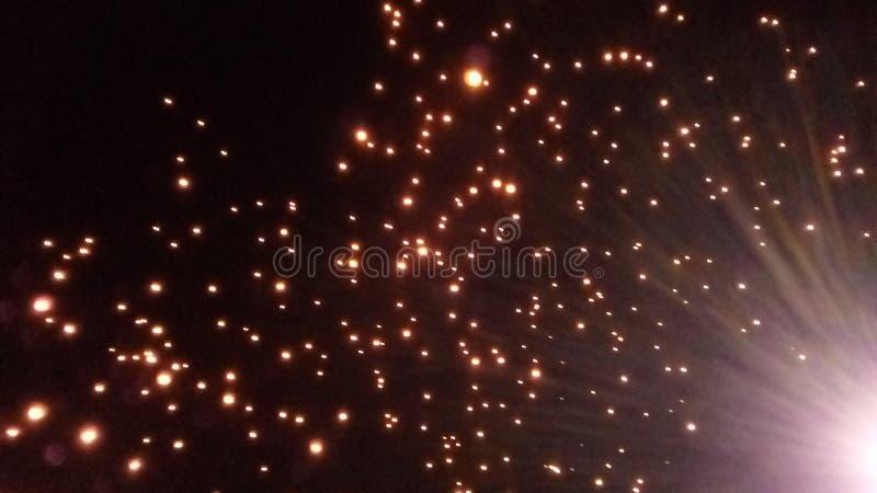 Mille festivals de lanternes volants photographie stock