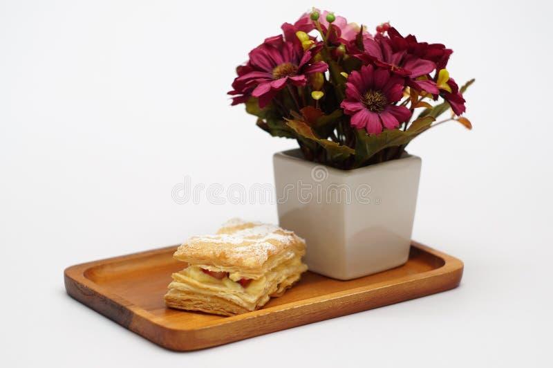 Mille-Feuille, дом сделало хлебопекарню, свежую еду стоковые изображения