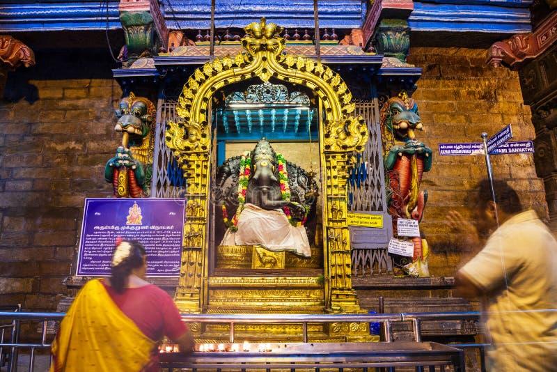 Mille halls de pilier, temple de Meenakshi photo libre de droits