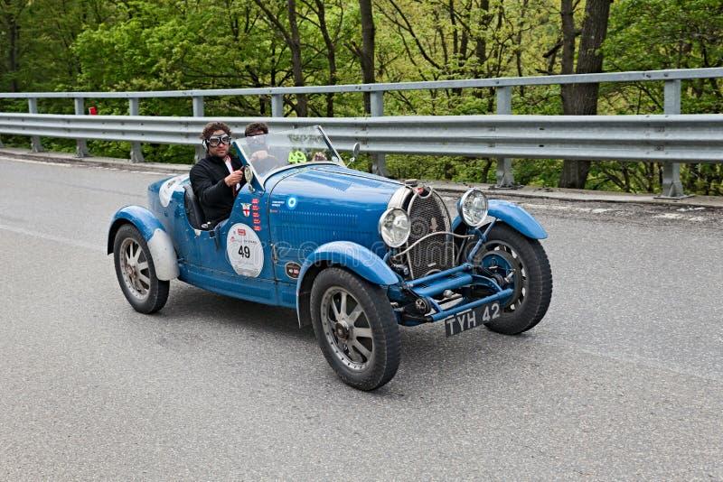 Mille Miglia的Bugatti T40优胜者2013年 免版税库存照片