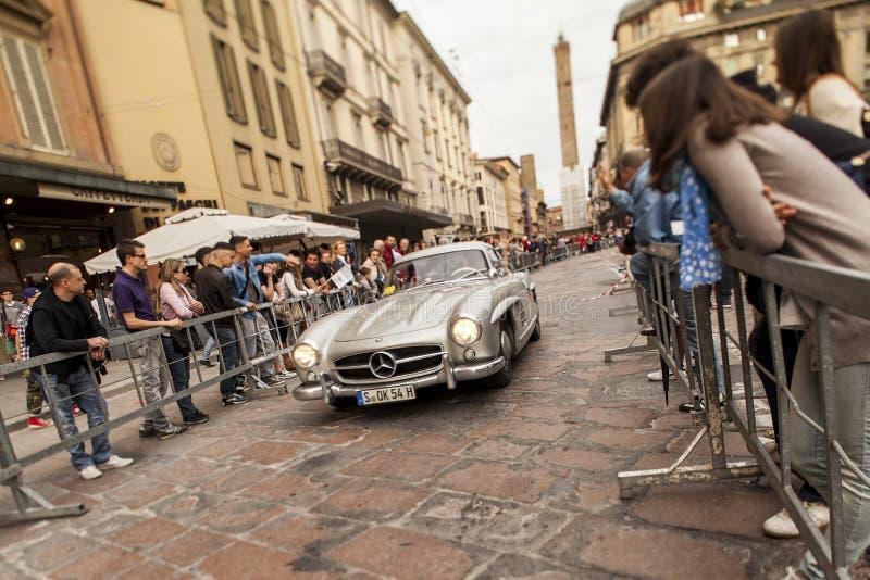 Mille miglia at boulogne. Mille miglia 2012 passagio da bologna royalty free stock photography