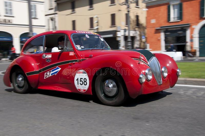 Mille Miglia, het beroemde ras voor retro auto's royalty-vrije stock foto
