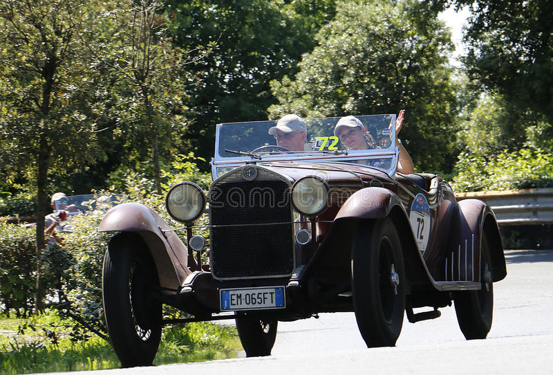 Mille Miglia, Italia fotografie stock