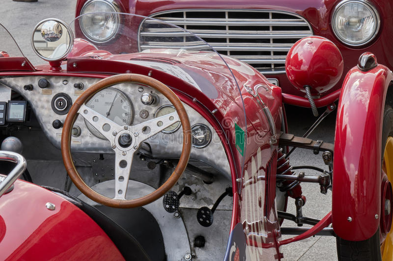 Mille miglia - one thousand miles may 2017. Brescia Italy royalty free stock photography