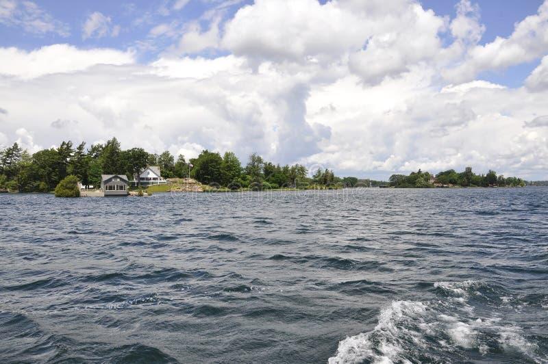 Mille paesaggi dell'arcipelago delle isole dalla provincia di Ontario nel Canada fotografia stock libera da diritti