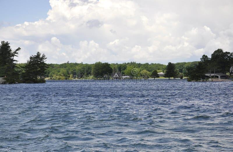 Mille paesaggi dell'arcipelago delle isole dalla provincia di Ontario nel Canada immagine stock libera da diritti
