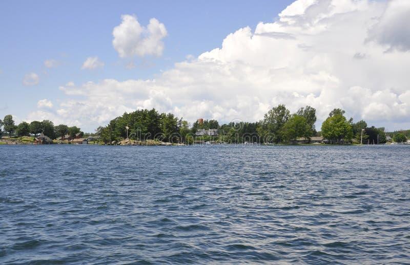 Mille paesaggi dell'arcipelago delle isole dalla provincia di Ontario nel Canada fotografia stock