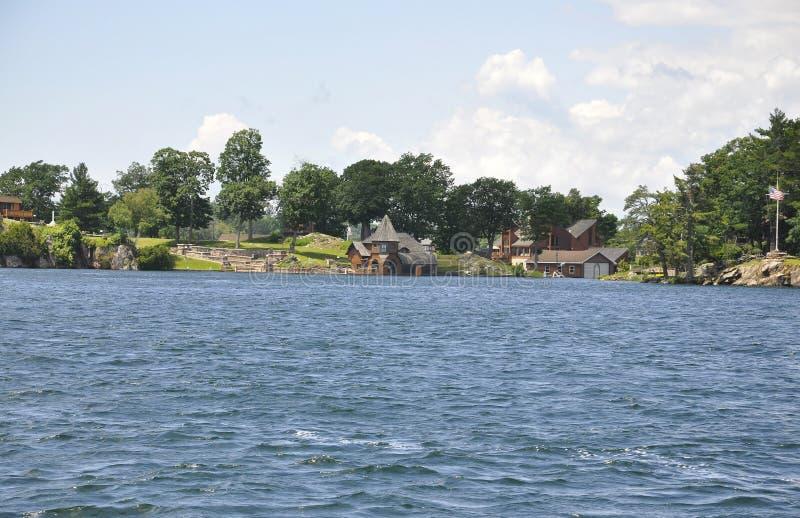 Mille paesaggi dell'arcipelago delle isole dalla provincia di Ontario nel Canada fotografie stock libere da diritti