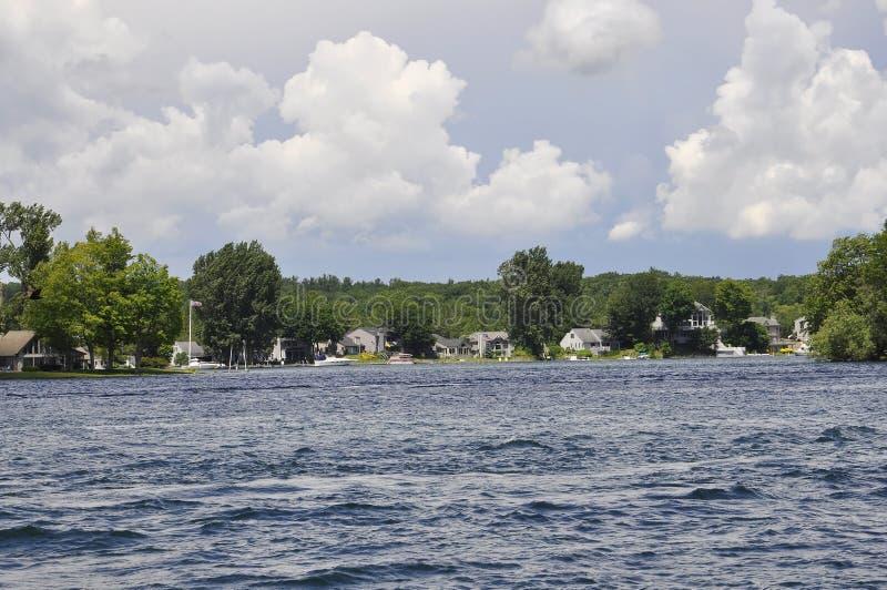 Mille paesaggi dell'arcipelago delle isole dalla provincia di Ontario nel Canada immagini stock